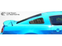 Carbon Creations 10-14 Ford Mustang Carbon Fiber Window Scoops Hot Wheels Style