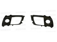 Seibon 08-12 Mitsubishi Lancer Evo X Fog Light Surrounds (Pair)