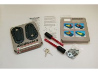 AeroCatch Universal Plus Flush Carbon-Look Hoodpins (with keyed lock)