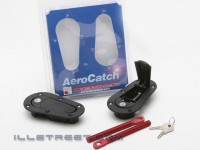 AeroCatch Universal Plus Flush Hoodpins (with keyed lock)